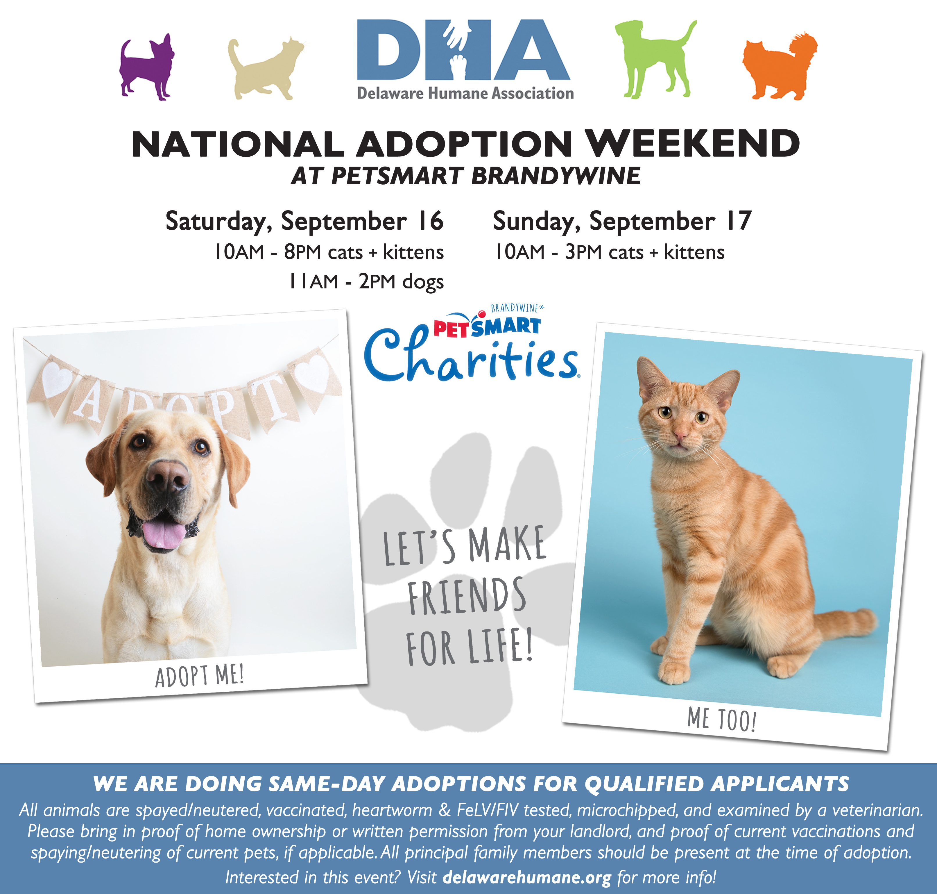 Petsmart Charities National Adoption Weekend Delaware Humane