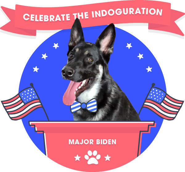"""The """"Indoguration"""" of Major Biden: the World's Largest Virtual Event for Dogs Will Raise Money for the Delaware Humane Association (DHA)"""